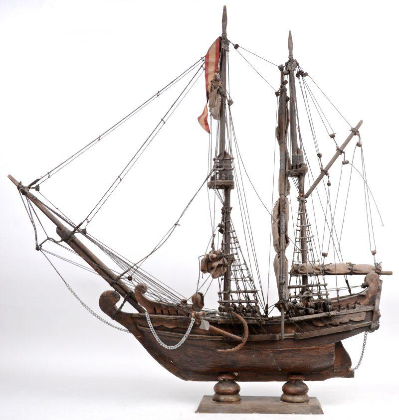 Replica in hout van de Santa Maria, een van de schepen van Columbus.