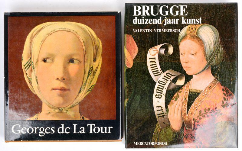 """Twee boeken:- """"Brugge"""". Valentin Vermeersch. Ed. Mercatorfonds.- """"Georges de la Tour. Ed. Arcade, 1976."""