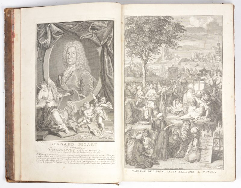 Een Duitstalig boek in lederen band. 1746. VERDER TE OMSCHRIJVEN