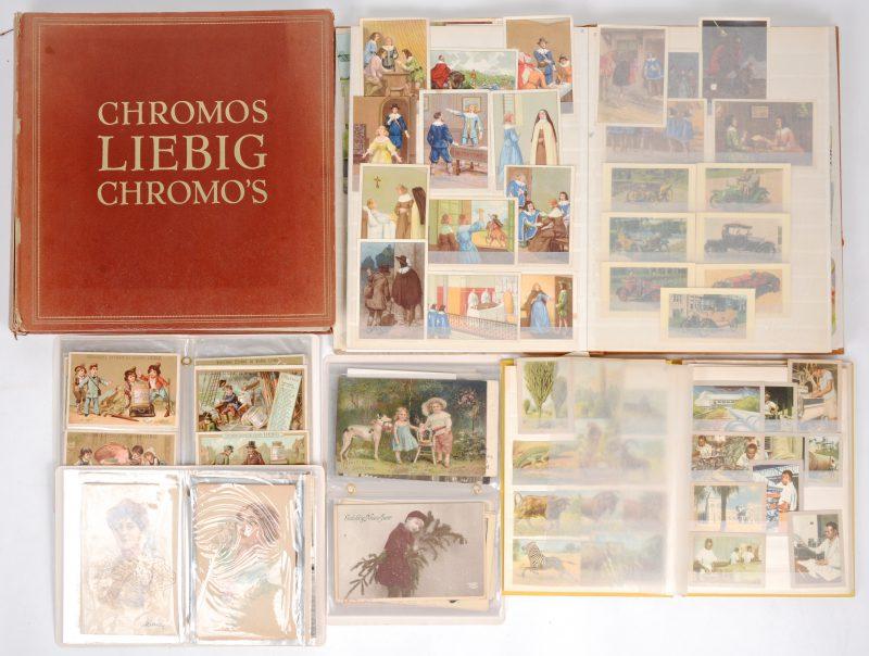 Een gemengd lot Chromo's en postkaarten.