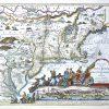 Een lot van elf ingekleurde XIXe eeuwse herdrukken van XVIIe en XVIIIe eeuwse kaarten.