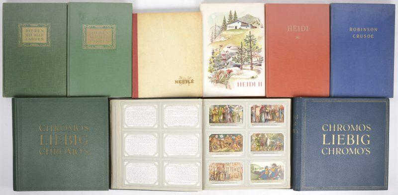 9 chromo-albums met daarbij drie van Liebig en diverse van Artis.