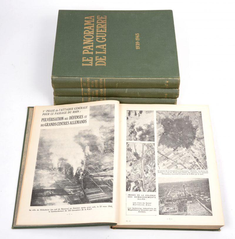 """""""Le Panorama de la Guerre 1939 - 1945"""". Ed. Jules Tallandier. In vier delen."""