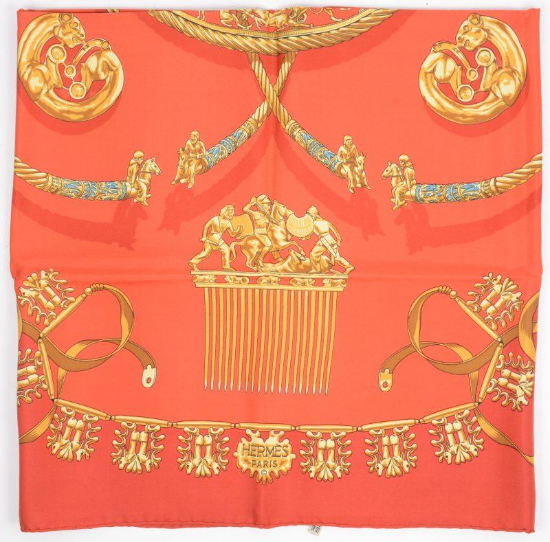 Een foulard van zijde.