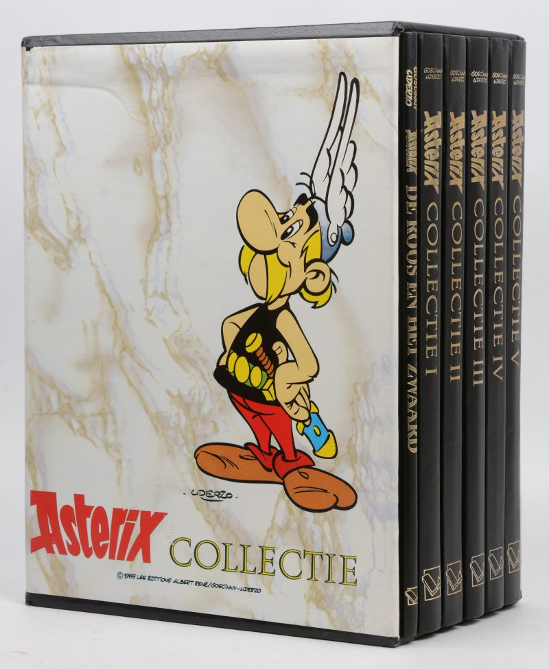 Asterix Collectie. Ed. Lekturama. 1989 Les Editions Albert/René/Goscinny-Uderzo. Zes albums in box.