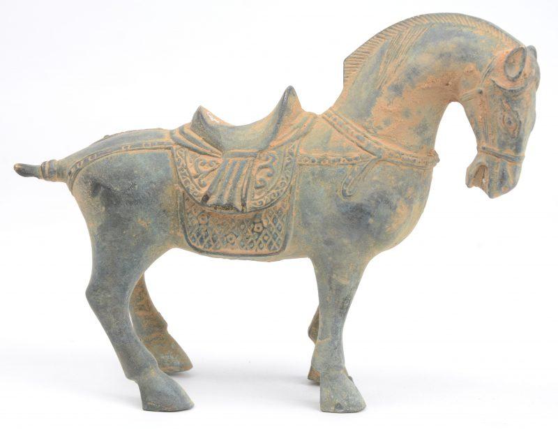Een bronzen paardje naar voorbeeld uit de T'angperiode.