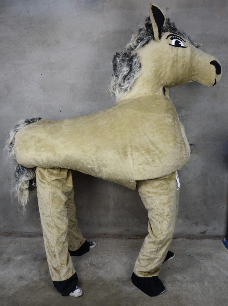 Een paardenkostuum voor twee personen.