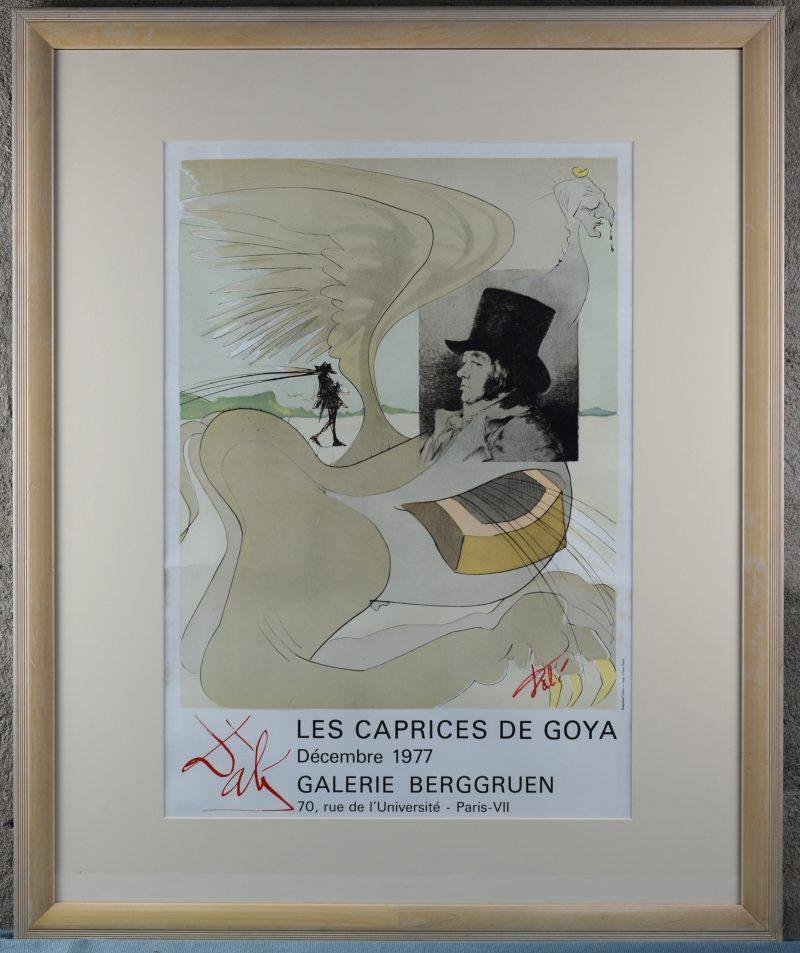 Affiche voor Les Caprices de Goya. Galerij Berggruen. Parijs 1977.