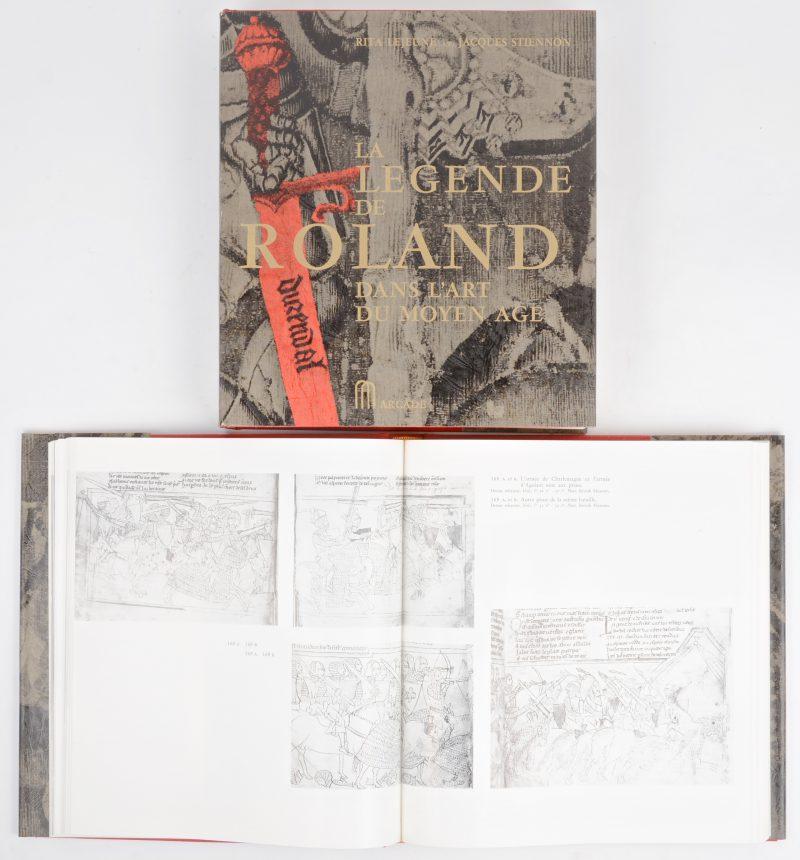 """Rita Lejeune & Jacques Stiennon. """"La Légende de Roland dans l'Art du Moyen Age"""". Ed. Arcade 1966. 2 delen."""