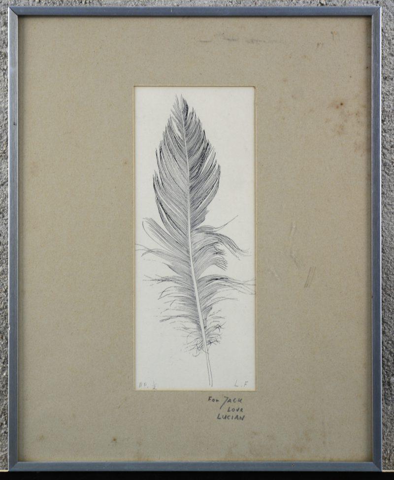 """""""Veer"""". Een lithografie. Gemonogrameerd 'L.F.' en genummerd 1/2 buiten de plaat en met opgedraging."""