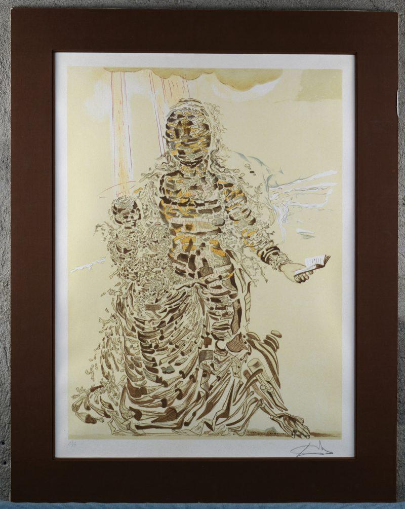 """""""Explosive madonna"""". Een lithografie. Gesigneerd en genummerd 105/250 buiten de plaat."""