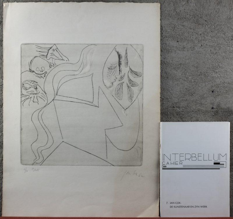 Een ets. Gesigneerd, gedateerd '62 en genummerd 6/10. Met begeleidende uitgave over de kunstenaar.