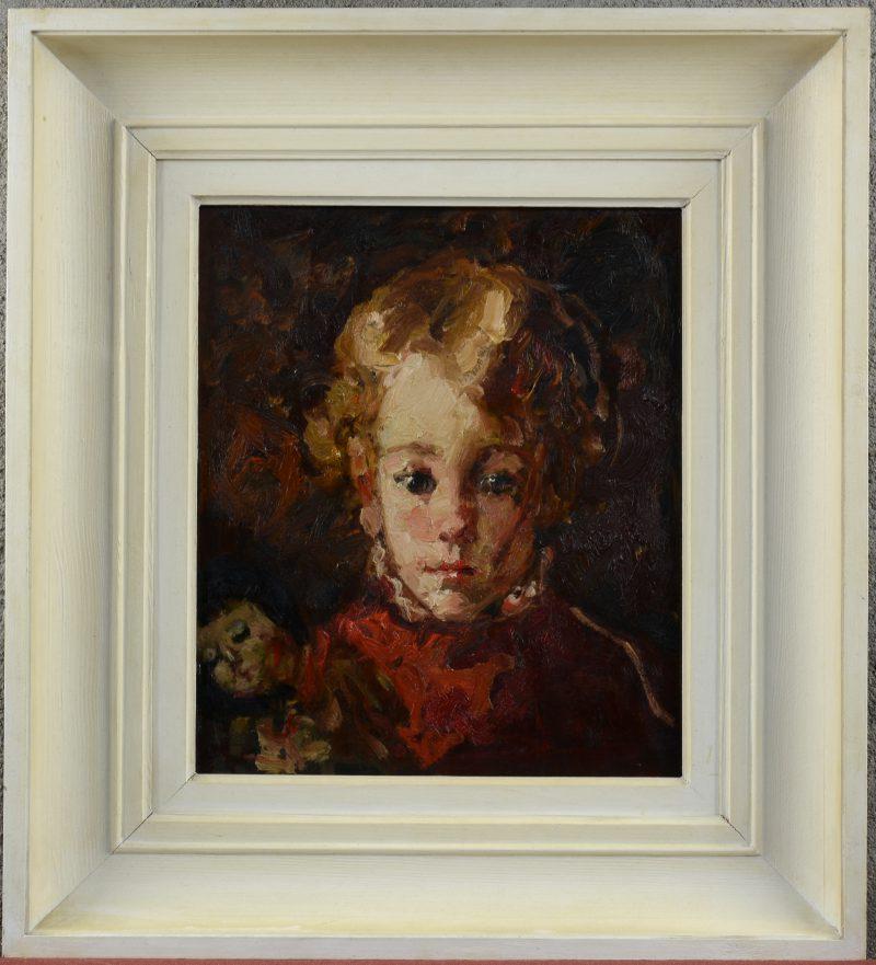 """""""Portret van Hortense, de dochter van de kunstenaar"""". Olieverf op paneel. Voorstudie op de verso."""