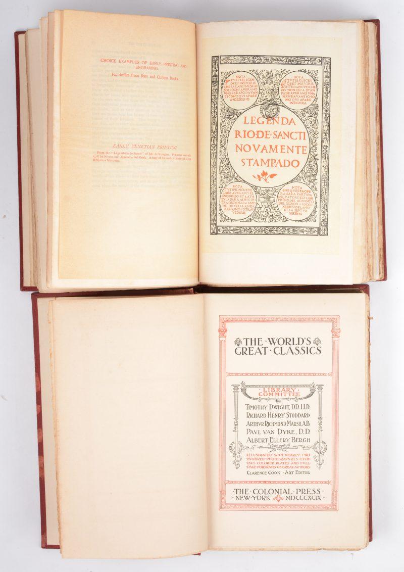 """De Toqueville. """"Democracy in America"""". Ed. The World's Great Classics 1899. 2 delen."""