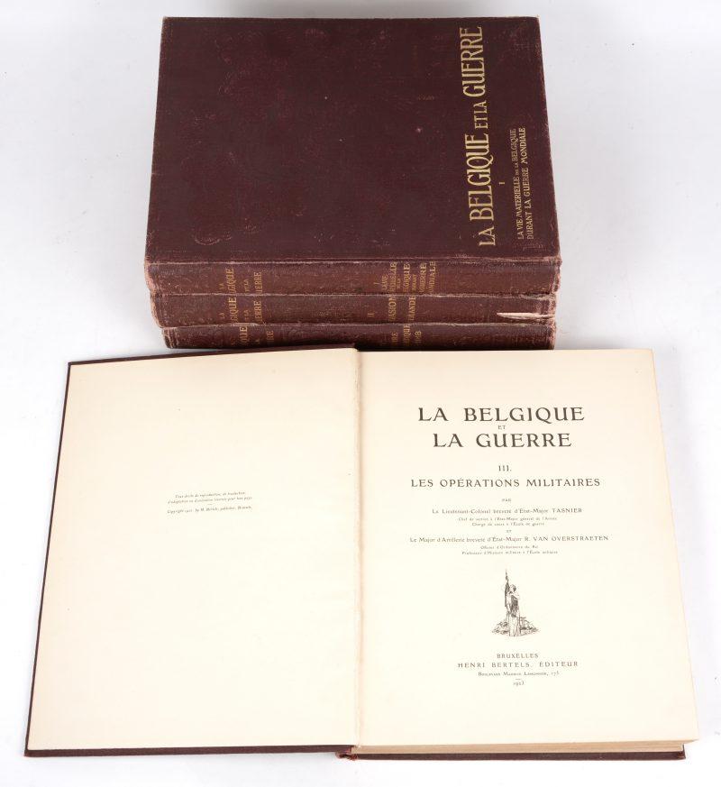"""La Belgique et la Guerre"". In vier delen. Georges Rency. Ed. Henri Bertels. Brussel, 1921 - 1923."