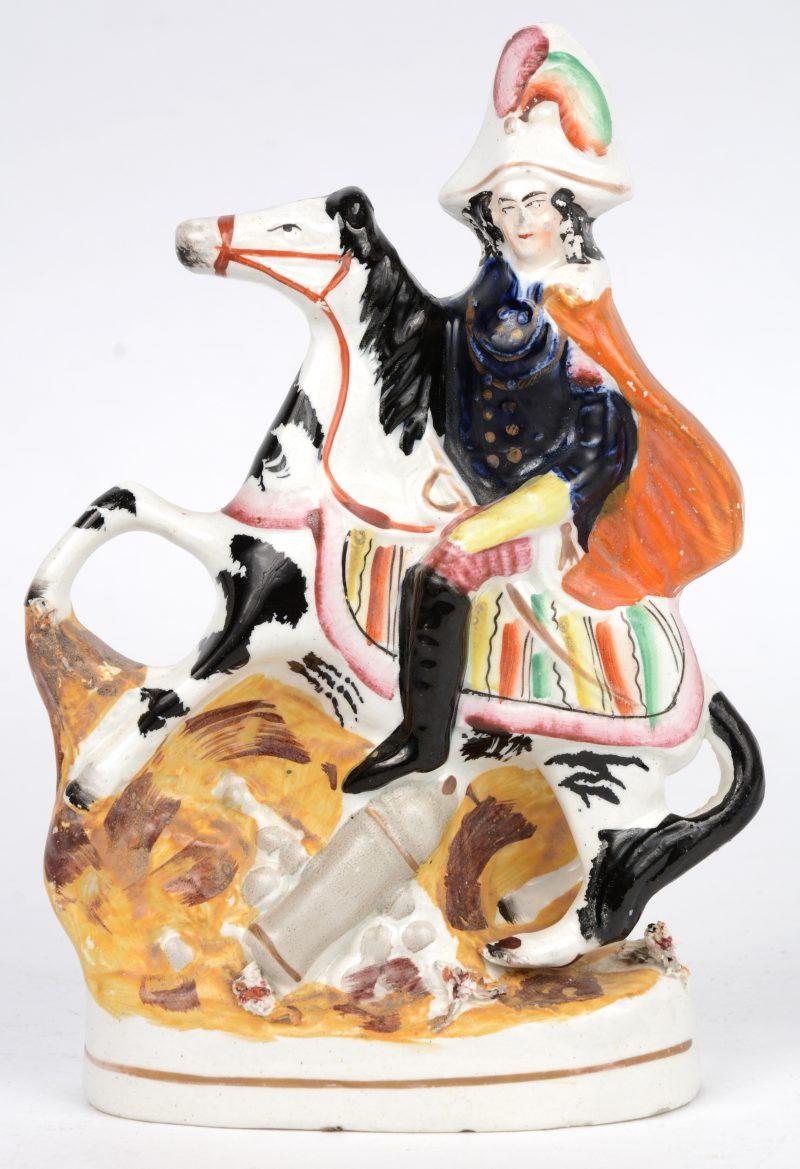 """""""Ruiter te paard"""". Een groepje van Staffordshire aardwerk."""