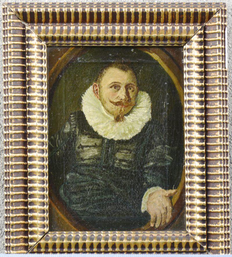 """""""Portret van een burger uit de XVIIde eeuw"""". Olieverf op doek."""