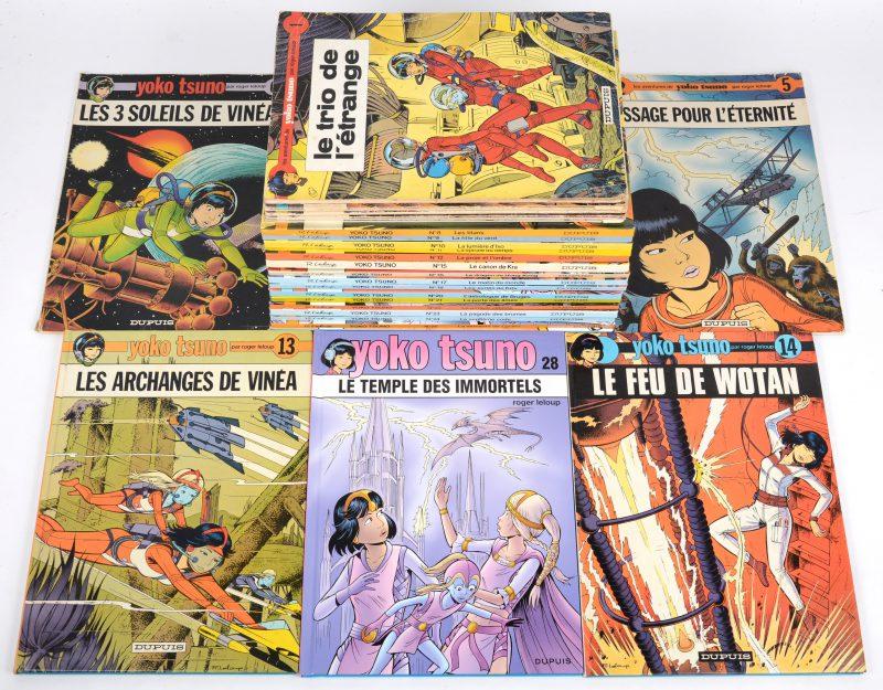 """""""Les aventures de Yoko Tsuno"""". Ed. Dupuis  (1972-2017). 27 albums. De eerste 7 softcover (slijtagesporen), de overige hardcover (als nieuw). Nrs 1 tot 28 (26 ontbreekt)."""