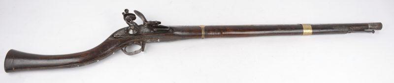 Een oude Engelse musket, gefabriceerd voor de Turkse markt.